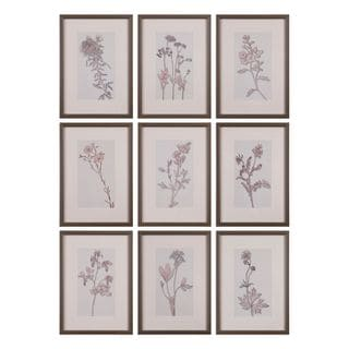 Spring Delights Floral Art (Set of 9