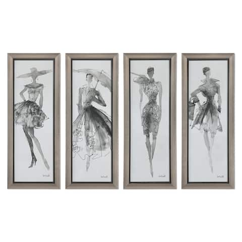 Fashion Sketchbook Art (Set of 4) - Black