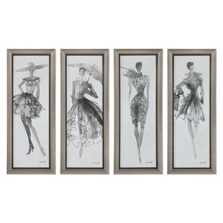 Fashion Sketchbook Art (Set of 4) - Black
