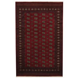 Herat Oriental Pakistani Hand-knotted Prince Bokhara Wool Rug (6' x 9'6)