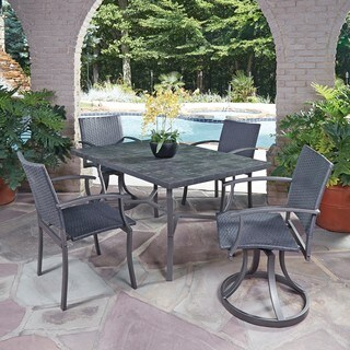 Cumberland Stone 5-piece Dining Set with Arm and Swivel Chairs by Home Styles