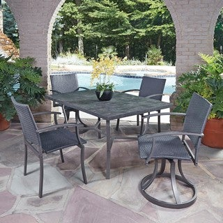 Cumberland Stone 5 Piece Dining Set With Arm And Swivel Chairs By Home  Styles