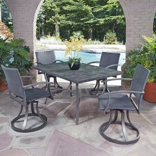 Home Styles Cumberland Stone 5-piece Dining Set with Swivel Chairs
