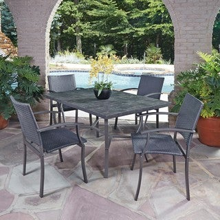 Home Styles Cumberland Stone 5-piece Dining Set with Arm Chairs
