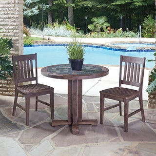 Home Styles Morocco 3-piece Round Dining Set with side chairs