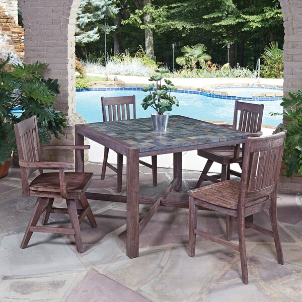 Morocco 5 Piece Square Dining Set By Home Styles On Free Shipping Today 11048336