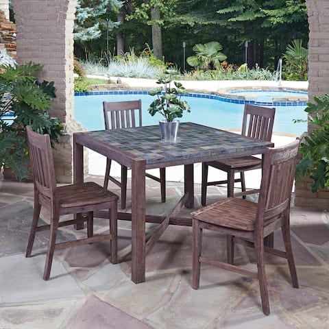Morocco 5-piece Square Dining Set with side chairs by Home Styles