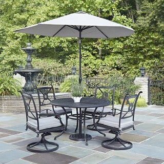 Athens 5-piece Dining Set with Swivel Chairs by Home Styles