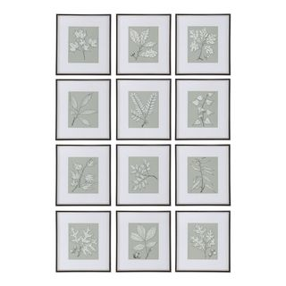 Leaves On Taupe (Set of 12)