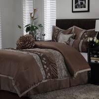 Nanshing Riley Taupe 7-piece Comforter Set