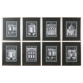 Architecturals Vintage Art (Set of 8