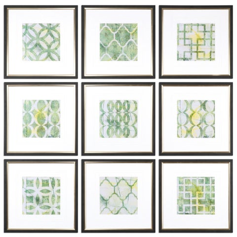 Metric Links Geometric Art (Set of 9)