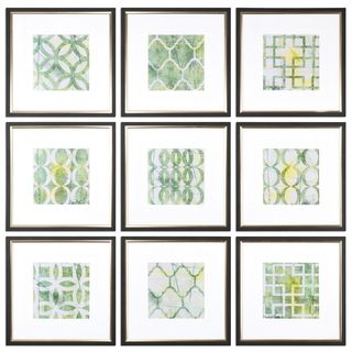 Metric Links Geometric Art (Set of 9) - Multi