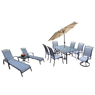 Aluminum Sling 12-piece Dining Set