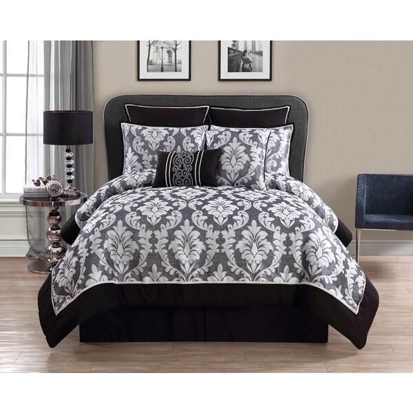 VCNY Walton Grey 8-piece Comforter Set