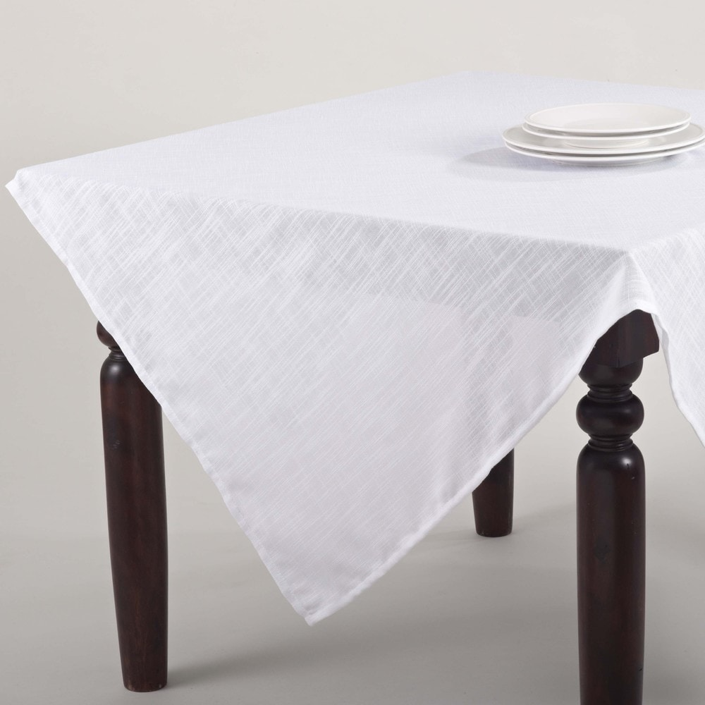 Shop Classic Woven 84-Inch Tablecloth - Overstock - 11048414