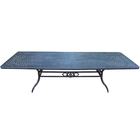 Gracewood Hollow Baeri Exclusive Cast Aluminum Extendable Dining Table