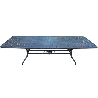 Gracewood Hollow Baeri Exclusive Cast Aluminum Extendable Dining Table