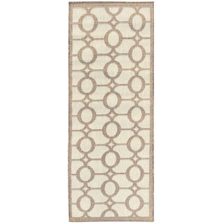 Jardin Collection Circle Design Indoor/Outdoor Runner Rug (2'7 x 7'3)