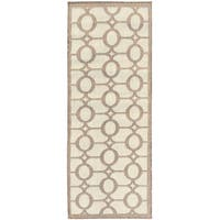 "Jardin Collection Circle Design Indoor/Outdoor Runner Rug - 2'7"" x 7'0"""