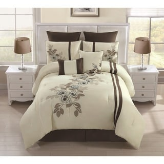 Alegra Embroidered 8-piece Comforter Set