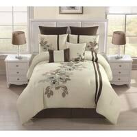 Alegra Embroidered 8-piece Comforter Set