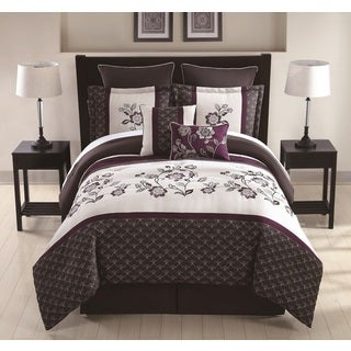 Matilda Embroidered 8-piece Comforter Set