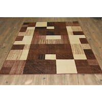 Multicolor Brown, Beige, and Black Runner Rug - 7'10 x 10'6