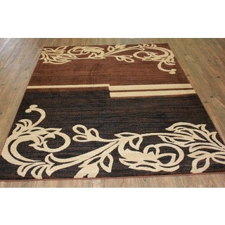 Multicolor Brown, Beige, and Black Runner Rug (7'10 x 10'6)