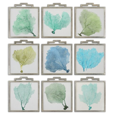 Sea Fans Framed Art (Set of 9)