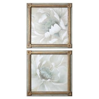 Winter Blooms Floral Art (Set of 2)
