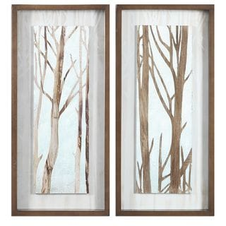 Tree Focus Shadow Box (Set of 2)