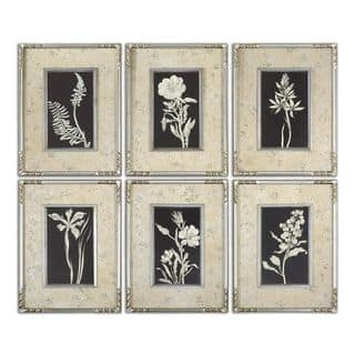 Glowing Florals Framed Art (Set of 6) - multi