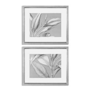 Floating Leaves Floral Art (Set of 2)