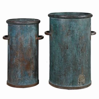 Barnum Tarnished Copper Cans (Set of 2)