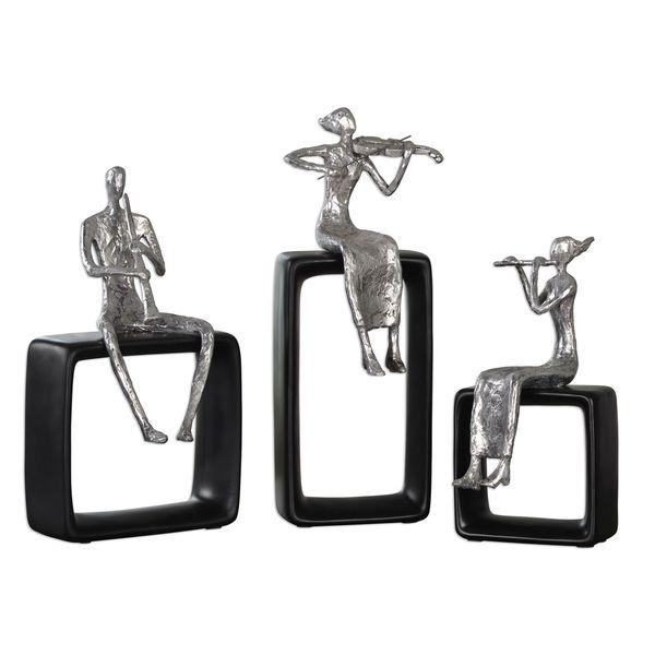 Musical Ensemble Statues (Set of 3)