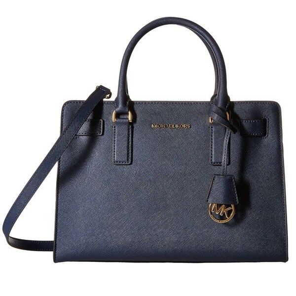 51a4524c1e20ed Shop Michael Kors Dillon Navy East/West Satchel Handbag - Free ...