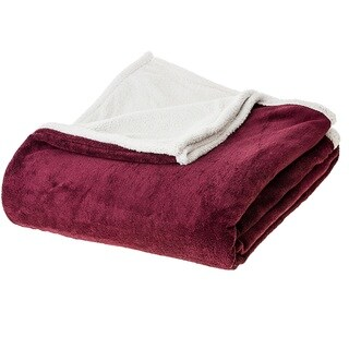 Cheer Collection Reversible Microsherpa Microplush Throw (More options available)