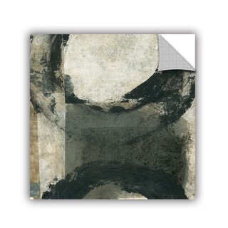 ArtAppealz Elena Ray 'Abstract Gray With Black Circles' Removable Wall Art