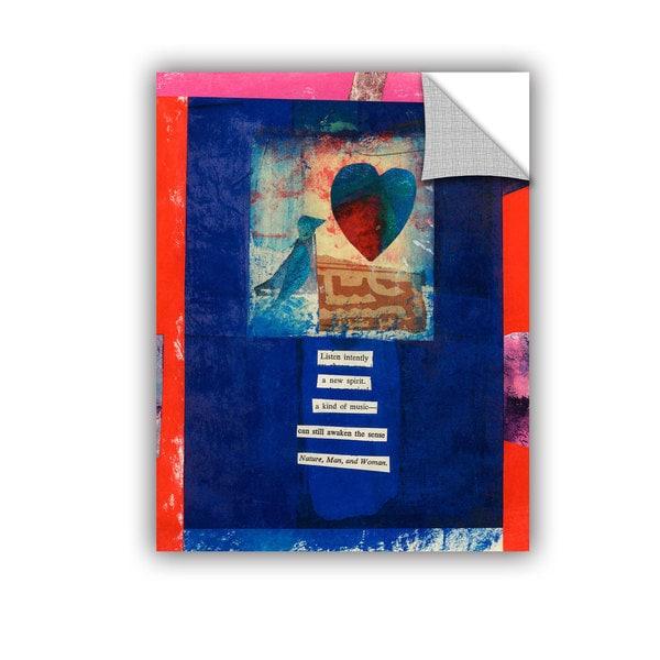 ArtAppealz Elena Ray 'Bird, Heart, Love' Removable Wall Art