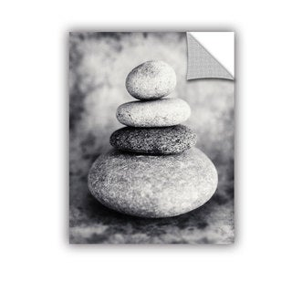 ArtAppealz Elena Ray 'Black And White Sea Stones' Removable Wall Art