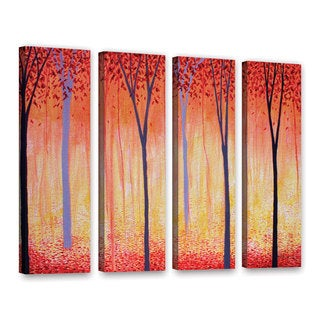 ArtWall Herb Dickinson's Placid, 4 Piece Gallery Wrapped Canvas Set