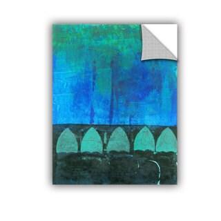 ArtAppealz Elena Ray 'Blue-Green Abstract' Removable Wall Art