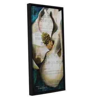 ArtWall Trish Mckinney's Elegant, Gallery Wrapped Floater-framed Canvas