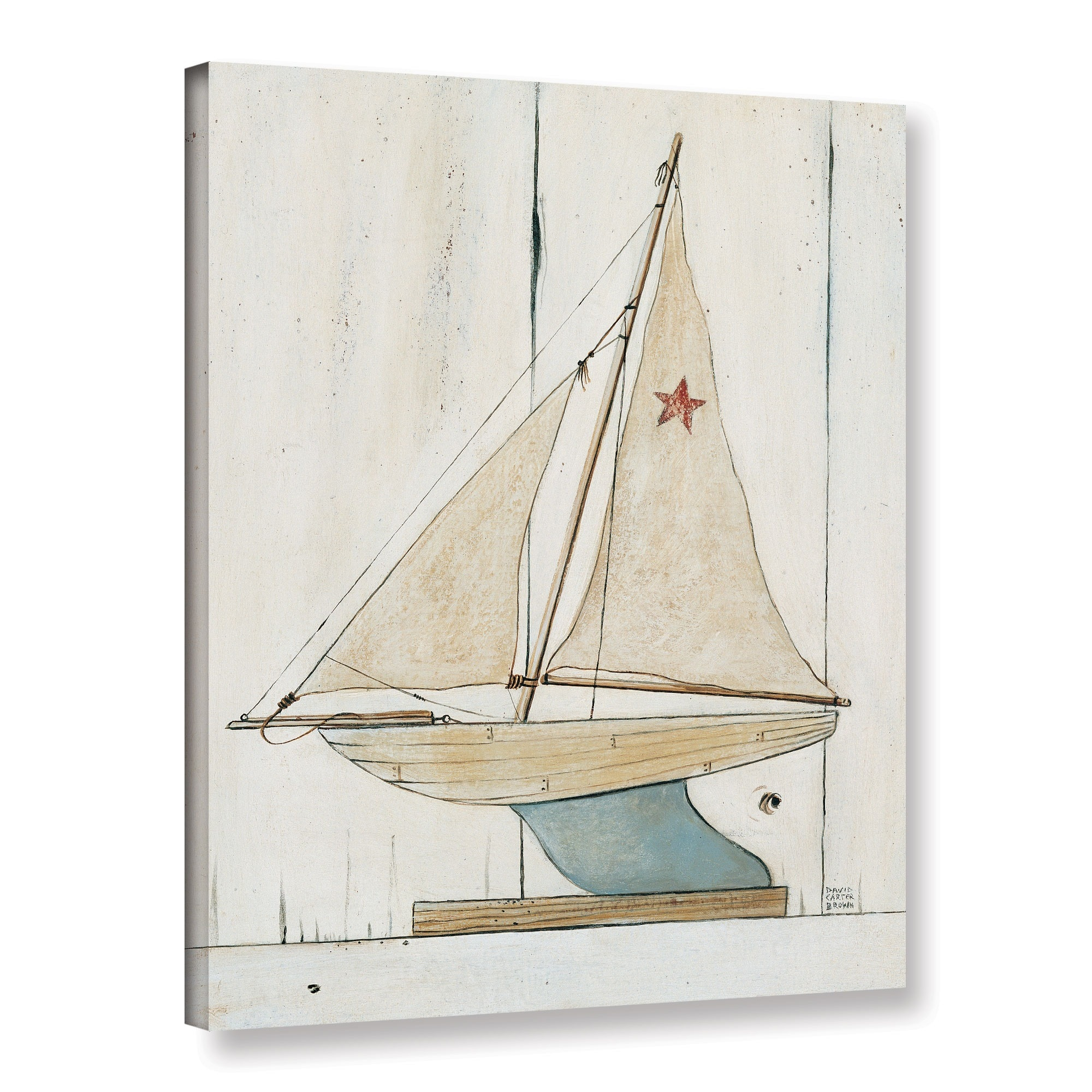 ArtWall David Carter Brown's Pond Yacht 2, Gallery Wrappe...