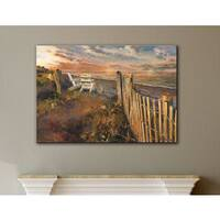 ArtWall Marilyn Hageman's The Beach At Sunset, Gallery Wrapped Canvas