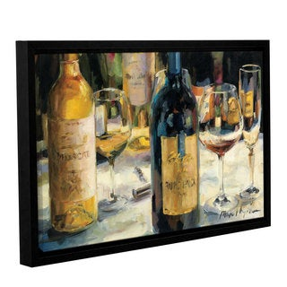 ArtWall Marilyn Hageman's Bordeaux And Muscat, Gallery Wrapped Floater-framed Canvas