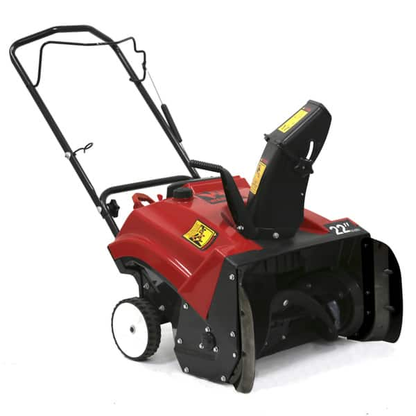 Shop Black Friday Deals On Warrior Tools Wr67436n 196cc 22 Inch Single Stage Hand Push Snow Blower Black Overstock 11050234