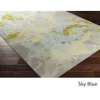 The Curated Nomad Kezar Abstract Watercolor Area Rug