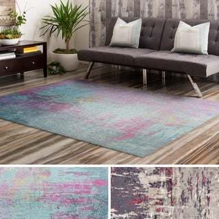 Machine Made Rayleigh Polyester Rug (4' x 6')